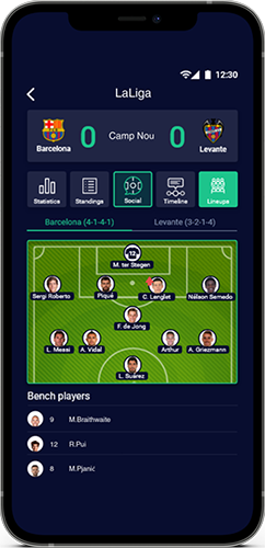 Match details and stats