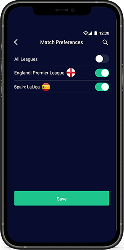Match preferences